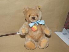 Steiff-Original Teddy Bär-0201/18-Knopf+Schild-80er Jahre