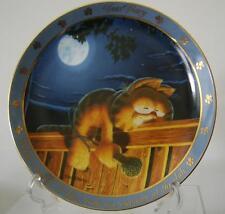 "Garfield Display Plate ""What A Night"" Jim Davis Dear Diary Series 1990"