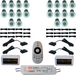 SET LED-SPOT 2W MIKROSPOT MINI-STERNENHIMMEL DIMMBAR WASSERDICHT IP65 MIKRO BAD