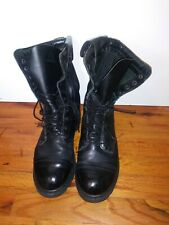 Rocky Paratrooper Jump Boots Black Leather Tactical Side Zipper 2090 Mens Sz 9W