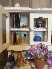 DOLLHOUSE CABINET Artist HandMade Wood Hutch Display Miniature Furniture 1:12