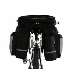 Bicycle Double Side Panniers Bag Bike Rear Rack Tail Seat Trunk Bag Large 60L UK