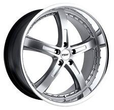 18x8 TSW Jarama 5x112 Rims +45 Hyper Silver Rims Fits VW cc eos golf jetta gti
