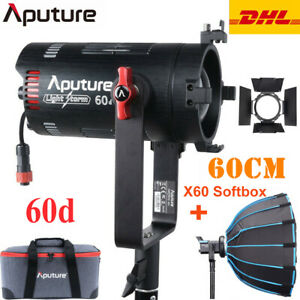 Aputure LS 60d 60W Daylight COB LED Video Photography Light 5600K + 60cm Softbox