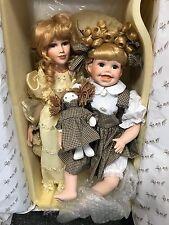 Künstlerpuppen 2 Porzellan Puppen bis. ca. 47 cm. Top Zustand
