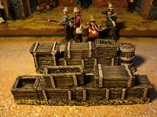 T2 painted Zulu WAR And Rourke Drift. Boxes, Barrels for dioramas. 1.32 scale