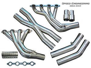 Speed Engineering LS1 LS6 C5 Corvette Headers 97-04 1 7/8 Race Version X-Pipe