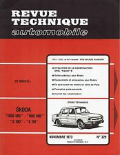 REVUE TECHNIQUE AUTOMOBILE 329 RTA 1973 SKODA 1000 1100 MB S 100 110 OPEL KADETT