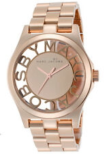 NEW MARC JACOBS MBM3207 LADIES ROSE GOLD HENRY SKELETON WATCH - 2 YEAR WARRANTY