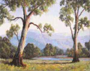"""Counted Cross Stitch Kit """"Gum Trees"""" by Andrea's Designs"""