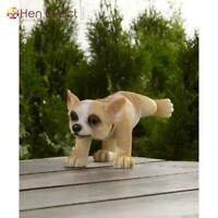 Potty Time Chihuahua Dog Statue Lawn Ornament Hand Painted+Durable Outdoor Decor
