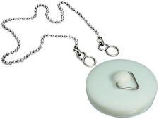 Qté de 200 plastique blanc Lavabo Bain prise 4.4cm 45mm. inclus 45.7cm chaîne