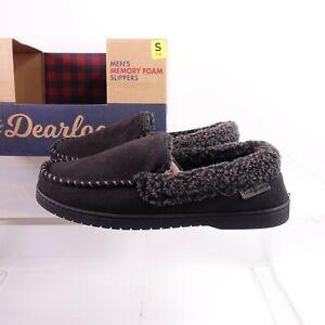 Size 11-12 Men's Dearfoams Memory Foam Slippers Black
