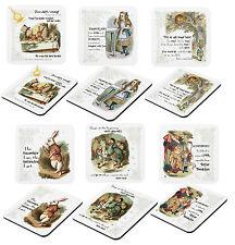 Set Of Six Classic Alice in Wonderland Laminated Coasters (set1)