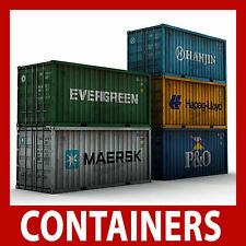 OO Rail Freight Shipping Container Model Card Kits 20ft OO 1:76