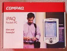 Compaq iPaq 3765 Color Pocket Pc Case Cradle Charger Original box & Paperwork Cd