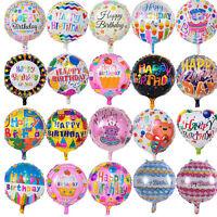 5x/Set joyeux anniversaire papier d'aluminium ballon de mariage décor de fête