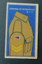 Rare 1930's Sweetacres Card Australian Fighting Force Badges Corporal A.I.F.