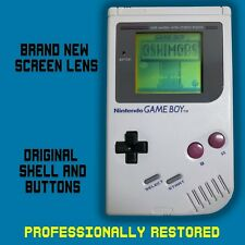 *RESTORED* ORIGINAL NINTENDO GAME BOY CONSOLE DMG-01 *NEW SCREEN LENS*
