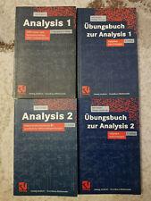 Analysis Lehrbuch + Übungsbuch Mathematik Studium