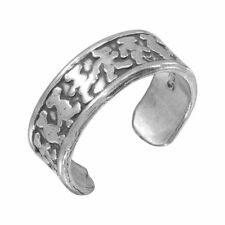 Sterling Silver Marching Bears Design Toe / Knuckle Ring
