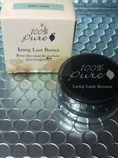 100% Pure Long Last Brow Pomade, Taupe, NIB/Sealed