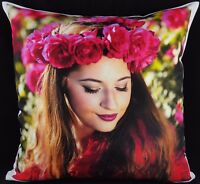Personalised Cushion Cover Printed Large Photo Collage Lovely Gift PREMIUM