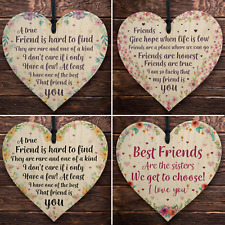 Friendship Wooden Heart Keepsakes Best Friend Gifts For Christmas Birthday Gifts