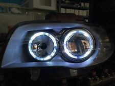 BMW 1 Series E81 E82 E87 E88 04-12 Chrome LED ANGEL EYE Proiettore Fari Hal