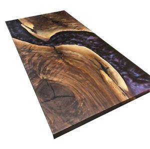 Furniture Resort,Dining Room Decorative Custom Order Epoxy Table Wooden Walnut