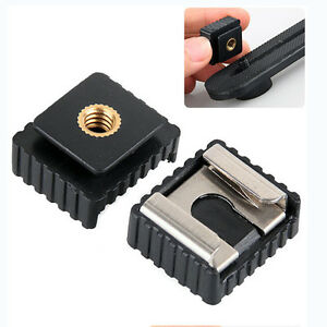 """Flash Hot Shoe Mount Adapter to 1/4"""" Thread for Studio Light Tripod StandWA"""