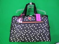 """Betsey Johnson  """"Dots""""  Weekender Duffel Travel Bag Brand New with Tags !!"""