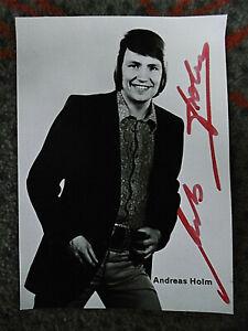 "Alte Autogrammkarte ""Andreas Holm"" mit original Autogramm"