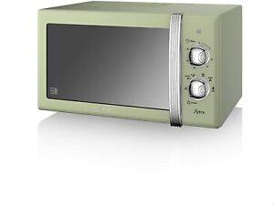 Swan SM22130GN Retro 800 W Manual Microwave 20 Litre Green