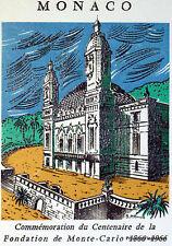 FONDATION DE MONTE CARLO  1966 TIMBRE MONACO  Premier Jour  FDC  Yt 690