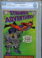 Strange Adventures #201 CBCS 6.0 Check 1967 2nd Animal Man DC Comics Silver Age