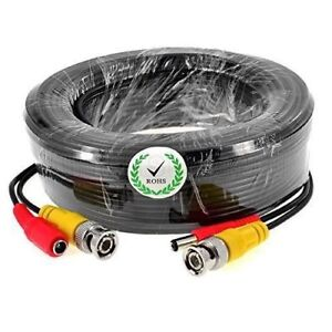 BNC RG59 DC CCTV Security Record Video Camera DVR Data Power Extension Cable 30m