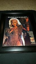 Tina Turner Mad Max We Don't Need Another Hero Rare Promo Poster Ad Framed!