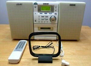 ✰✨Sony CMT-EP50LIV Mini Bookshelf Stereo + Remote AM/FM Radio, CD, Tape- Works!✰