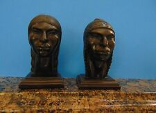ARIAS - AYMARA PEOPLE - COUPLE - HAND CARVED WOOD - SIGNED - UNIQUE