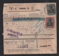 Germany 1920 Deutsches Reich Parcel Postcard with Austrian Postage Due WS13310