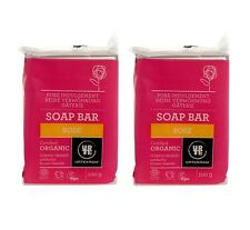 URTEKRAM ORGANIC ROSE SOAP 2x100g - NO ANIMAL TESTING - ECOCERT - VEGAN -