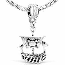 Pirate Ship Dangle Charm Bead For Snake Charm Bracelet