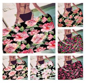 Retro Rose Flower Floral Print Rectangle Swim Spa Bath Yoga Beach Towel Blanket
