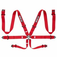 FIA SPARCO seat belts 04818RAC lightweight 6-point safety harness RED 8853