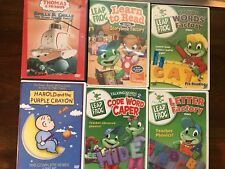 6 DVDS 4 LEAP FROG, EDUCATIONAL, HAROLD & THE PURPLE CRAYON, & THOMAS & FRIENDS