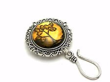 Amber Tree Magnetic Portuguese Knitting Pin- ID Badge Holder