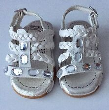 Pediped Flex Phoebe Rhinestone Gem Sandals Memory Foam Insole Size 5 Narrow EU20