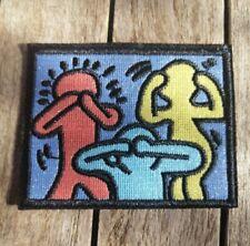 Patch écusson Keith Haring Street art transfert à coudre brodé