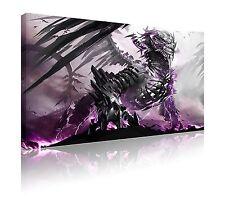 "20"" x 30"" purple skeleton dragon canvas wall art print picture FREE p&p"
